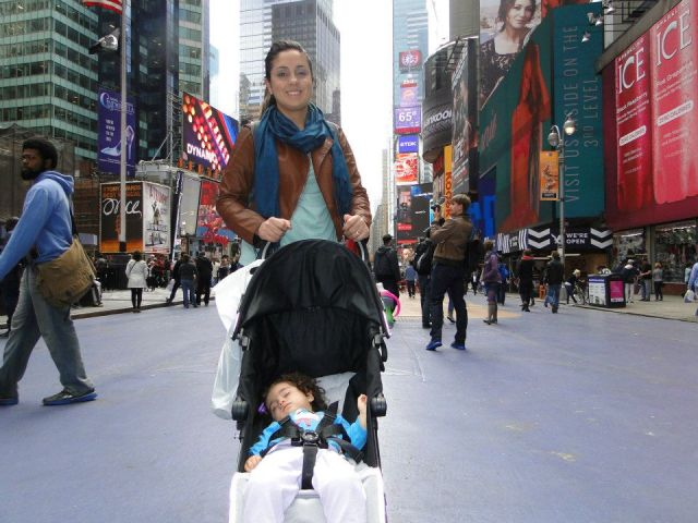 Soneca na Times Square