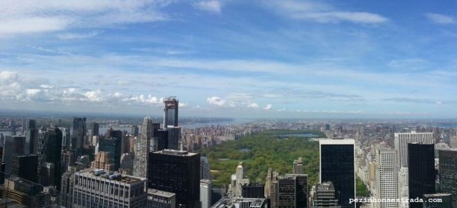 Olha ele ali! Central Park visto do Top of the Rock.