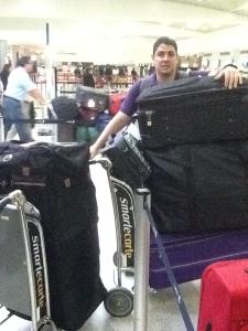Meu marido e nossa pequena bagagem