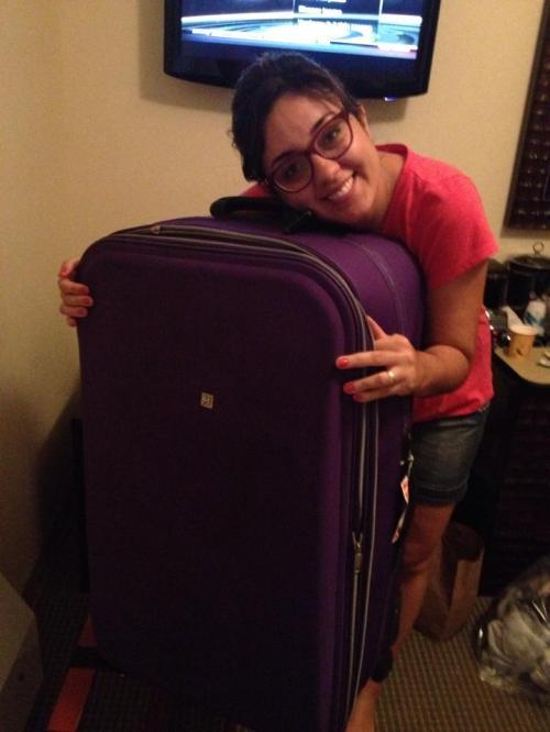 """Despedida da minha """"pochete"""". Vale muito a pena deixar para comprar malas novas lá!"""