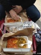 Comida indiana na rua