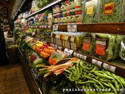 Produtos saudáveis nos mercados da cidade
