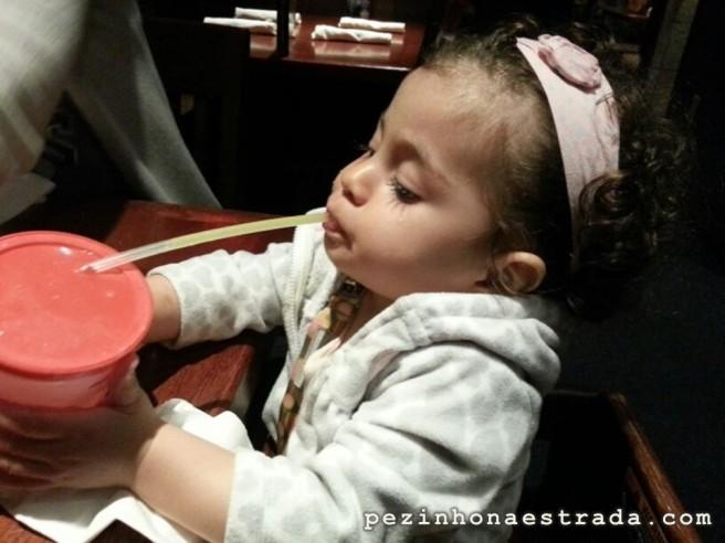 Com o prato infantil, a criança tem direito a um suco no Red Lobster