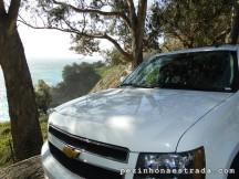 Nosso carro em uma das paradas no Big Sur