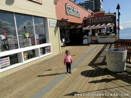 Entradinha do restaurante onde jantamos no dia anterior, na Cannery Row, Monterey