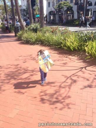 Pezinho na estrada e olhos atentos no mapa. Bela pelas ruas de Santa Barbara