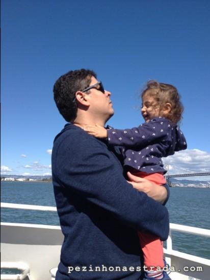 Voltando de Sausalito de ferry