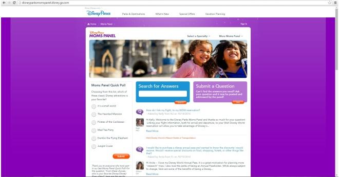 Print do site Disney Parks Moms Panel