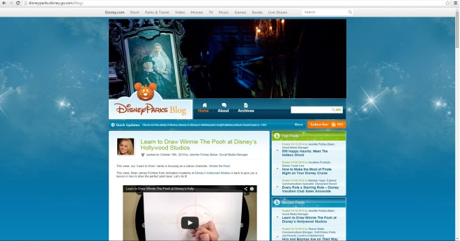 Print do blog oficial da Disney