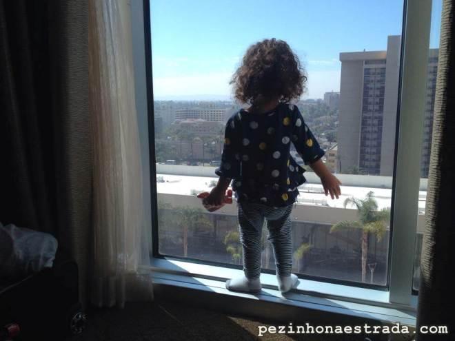 Nosso janelão no Hilton Anaheim