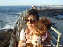 Passarela para observação dos leões marinhos, em La Jolla