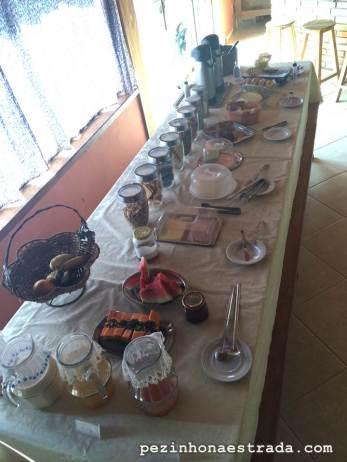 Café da manhã na Pousada Araucária