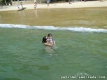 Parada para um mergulho na Praia da Lula