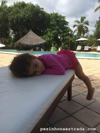 Bela relaxando no Hotel Tibau Lagoa.