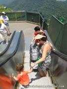 Escadas rolantes para ajudar na subida e descida - Cristo Redentor