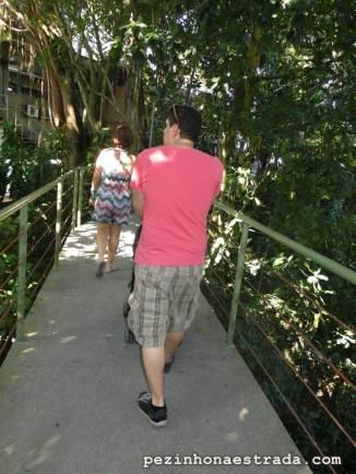 Via Verde, no Morro da Urca. Caminho sombreado que leva até o bondinho do Pão de Açúcar.