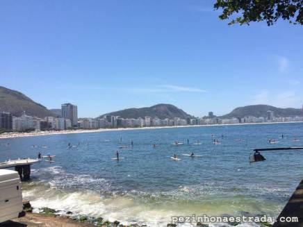 Galera do SUP em Copacabana